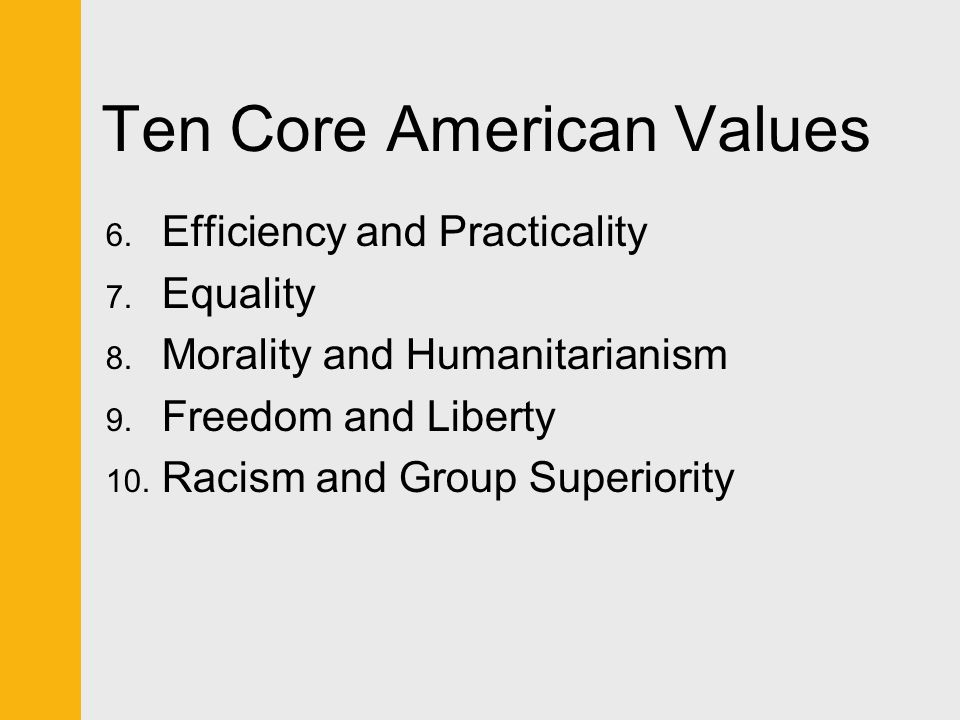 america s core values liberty equality and Liberty, equality, and  in american's core values in a  concerns to maintain individual liberty at the expense of equality and.