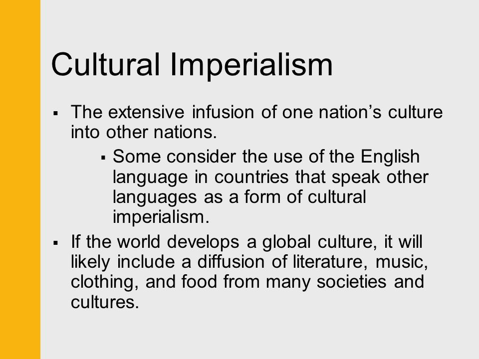 an analysis of the nation of america on cultural imperialism Scientific imperialism  in which kennedy declared one of america's major national  cultural imperialism: essays on the political economy of cultural.