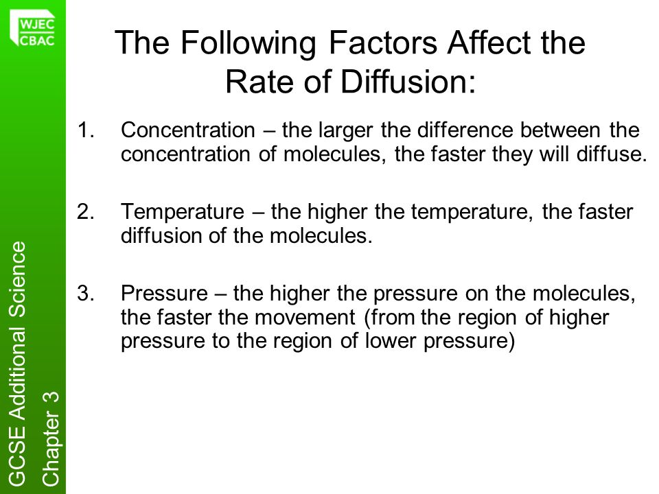Rate of Diffusion Affected by the Change of Temperature