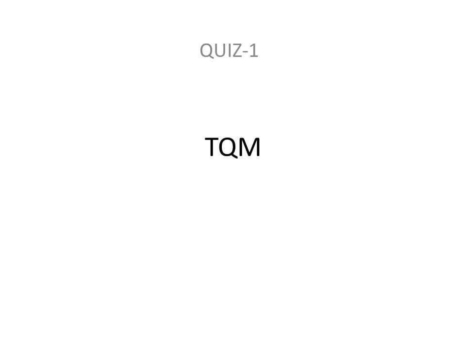 QUIZ-1 TQM