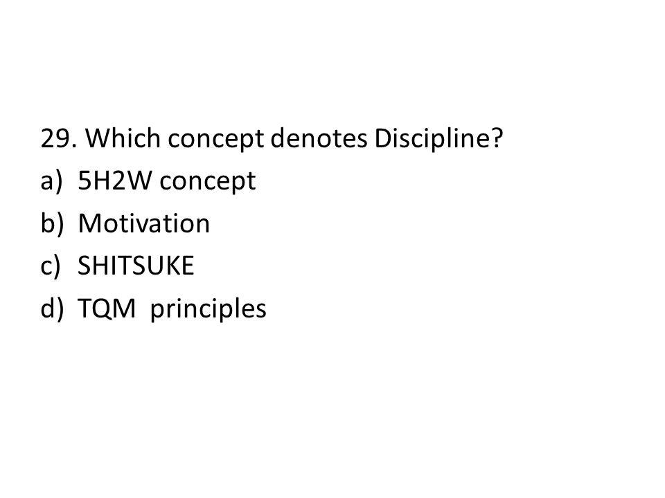 29. Which concept denotes Discipline
