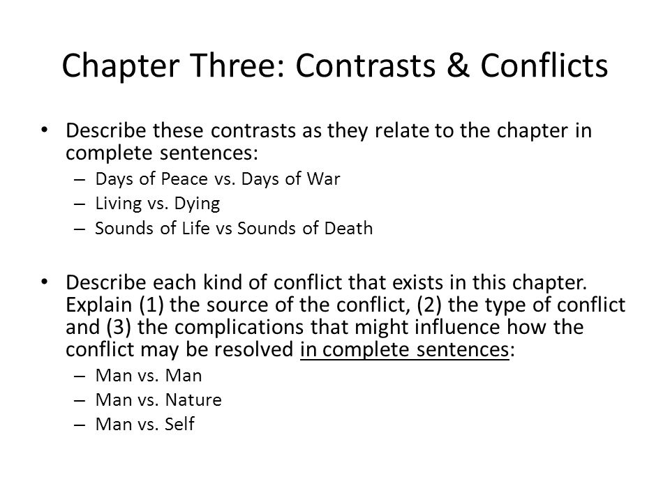 contrasts and conflicts chap 1 great A summary of chapter 1 in j k rowling's harry potter and the sorcerer's stone   from the outset, rowling creates a great buzz about the protagonist of the story ,  the contrast that rowling establishes between day and night prefigures the.