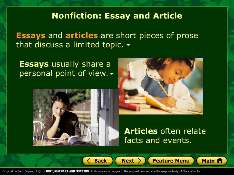 short non fiction essays