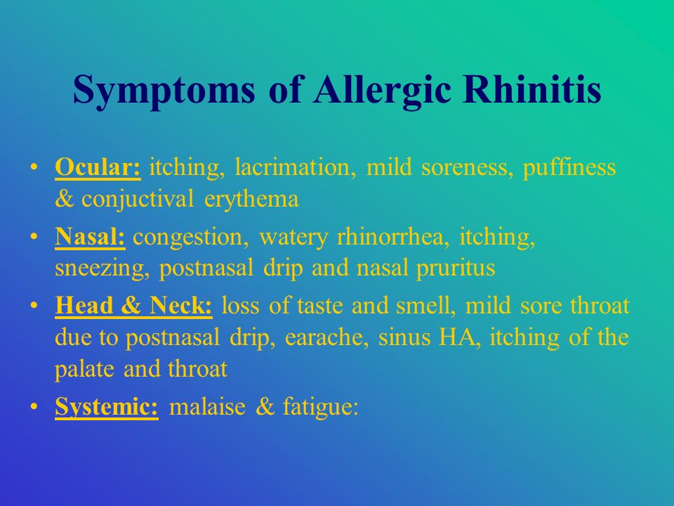 Chronic Rhinitis and Post-Nasal Drip Symptoms, Causes, Treatment