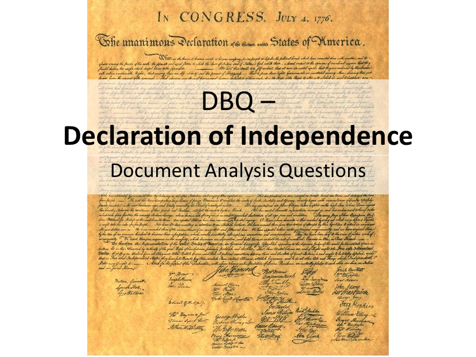 declaration of independence analysis