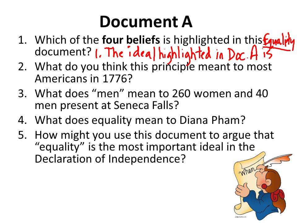 dbq declaration of independence Declaration of independence: the struggle for equality dbq directions: the  following question requires that all students compose an essay based on the.