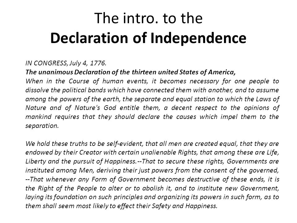 "an analysis of the declaration of independence what is the third estate and the declaration of the r The philosophy of the declaration of independence: part 2  (notes on the declaration of independence)  and estate""."