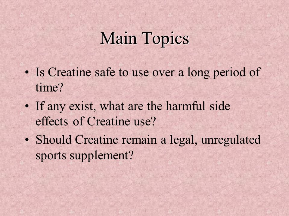 the use of creatine in sports essay Creatine supplementation in athletes: review by mark a jenkins, md if you haven't yet heard of creatine supplementation you soon will it is being promoted as a muscular performance.