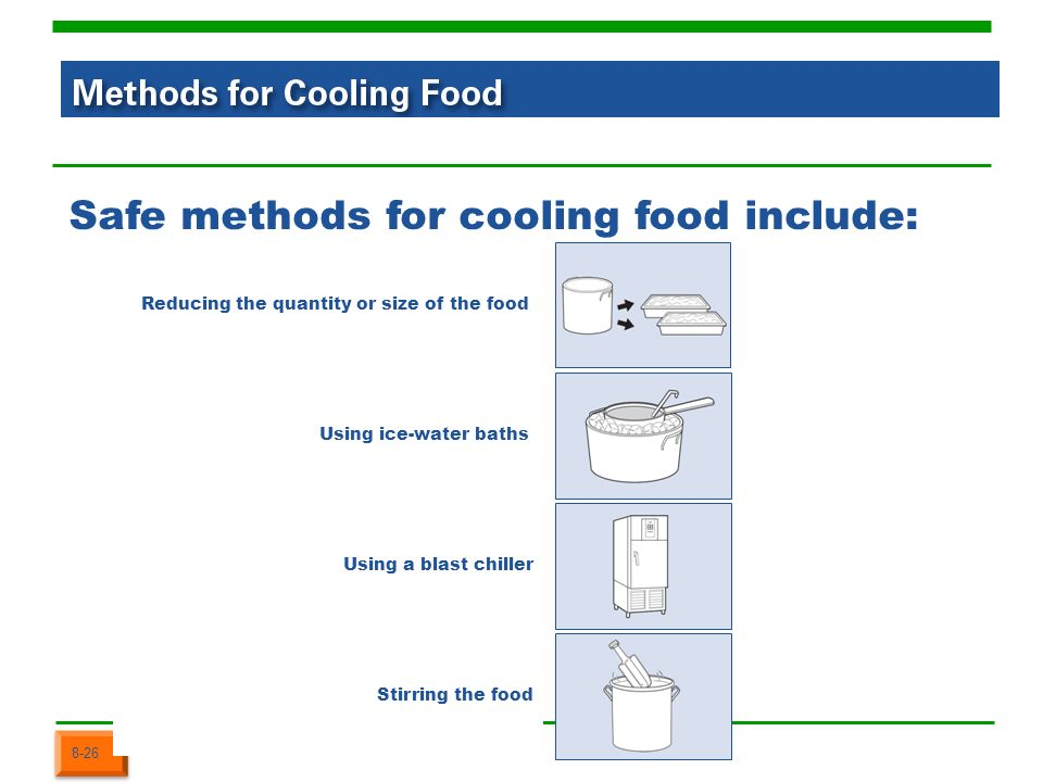 Cooling Food Properly : Prostart obj pt keeping food safe ppt download