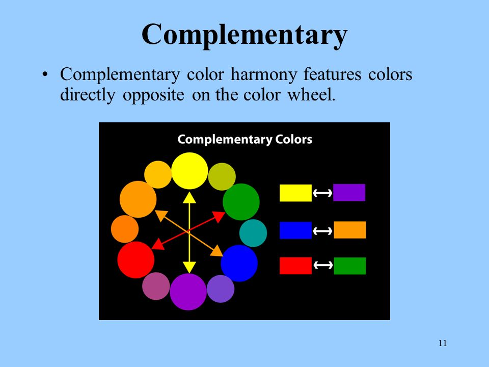 Colors Directly Opposite Color Wheel instructional materials service texas a&m university - ppt video