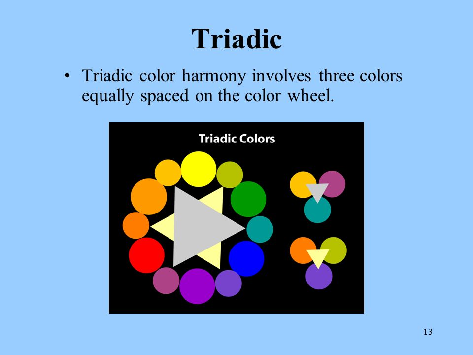 13 Triadic Color Harmony Involves Three Colors Equally Spaced On The Wheel