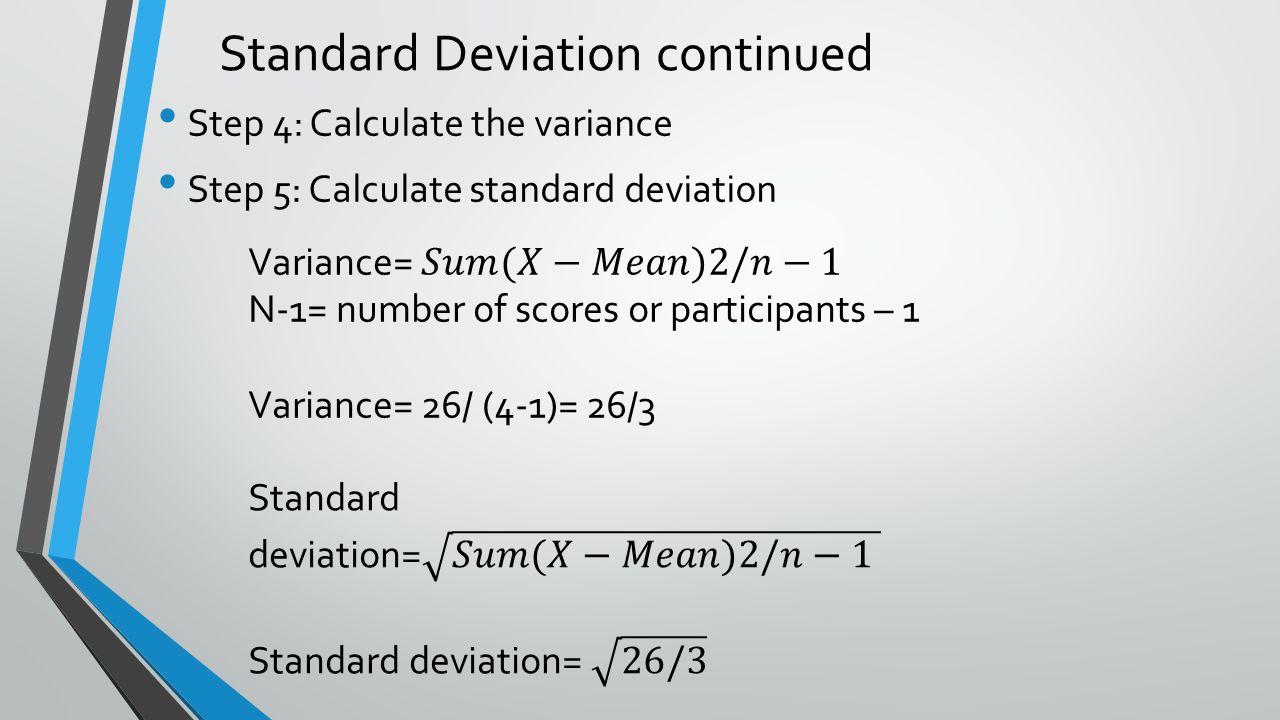 Standard Deviation Continued Descriptive Statistics Ppt Download