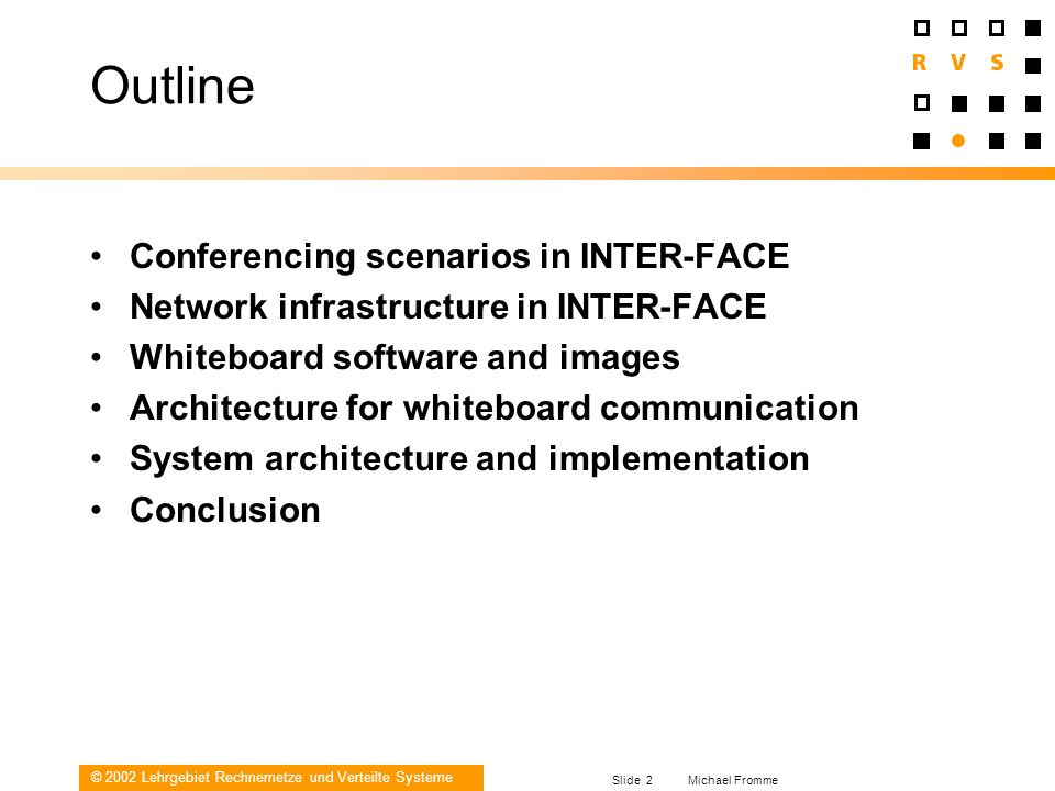 Outline Conferencing scenarios in INTER-FACE