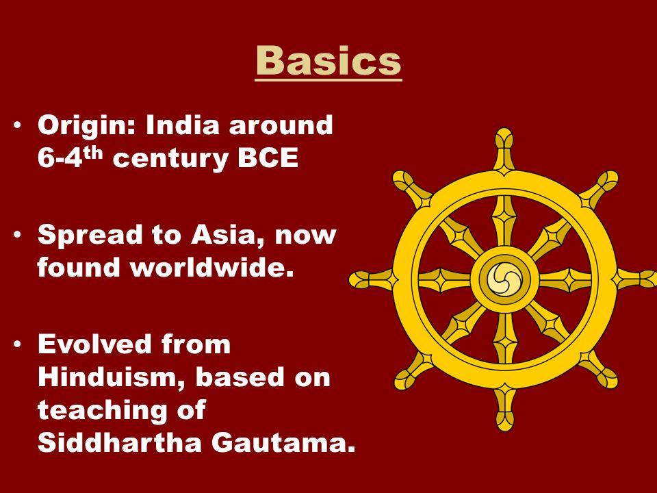Basics Origin: India around 6-4th century BCE