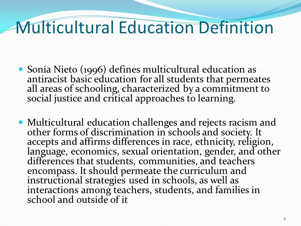 should multiculturalism permeate the curriculum Please note: this post is not based on original research in fact, this is a summary of a report by the national council for the social studies entitled.