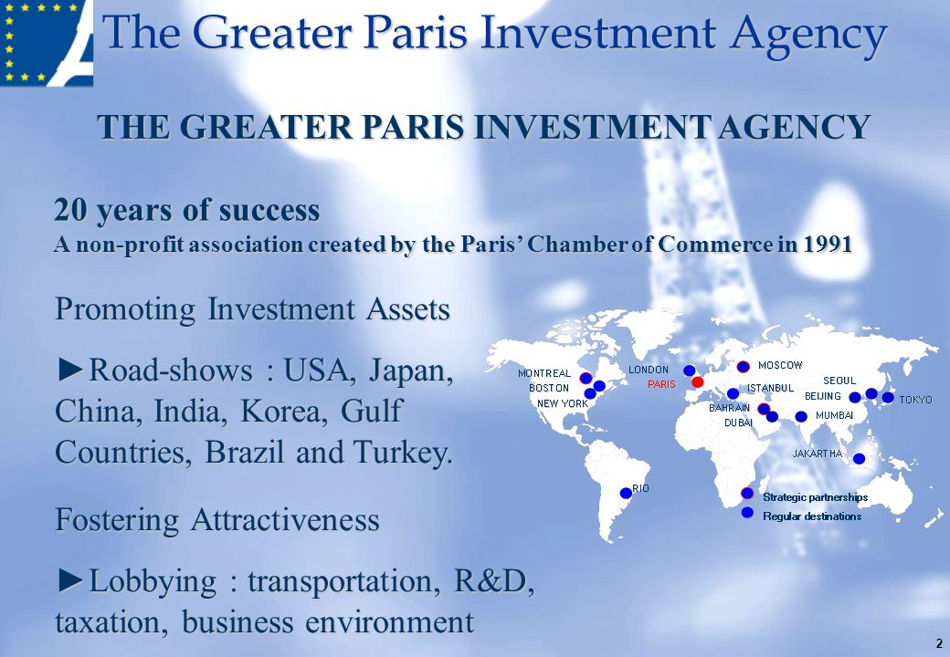 THE GREATER PARIS INVESTMENT AGENCY