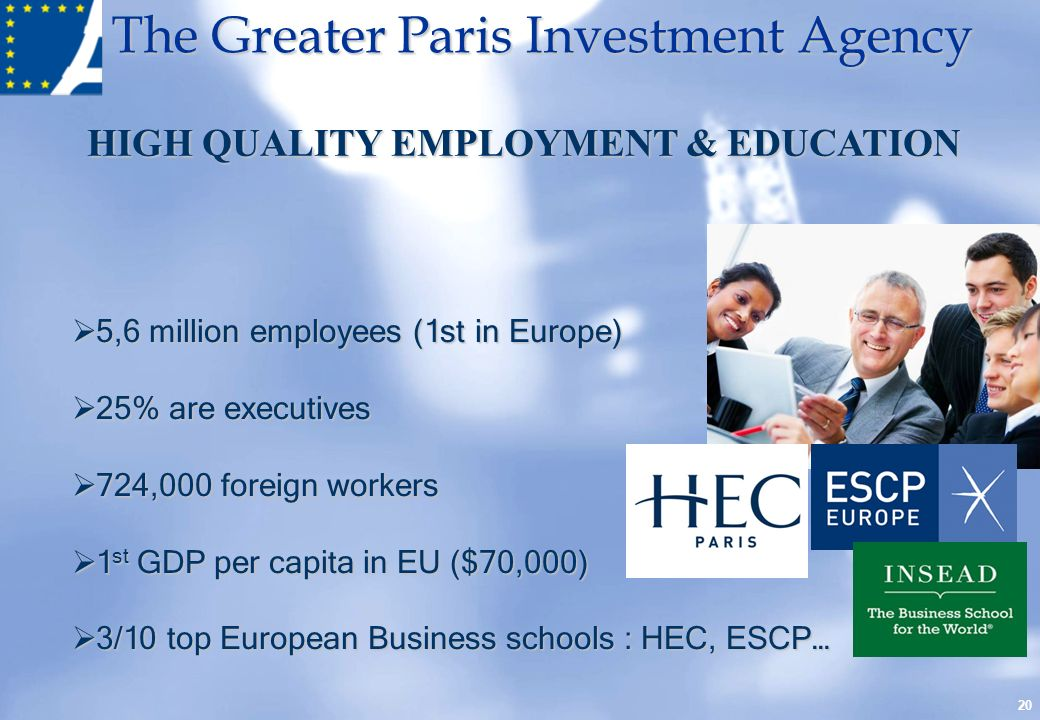HIGH QUALITY EMPLOYMENT & EDUCATION
