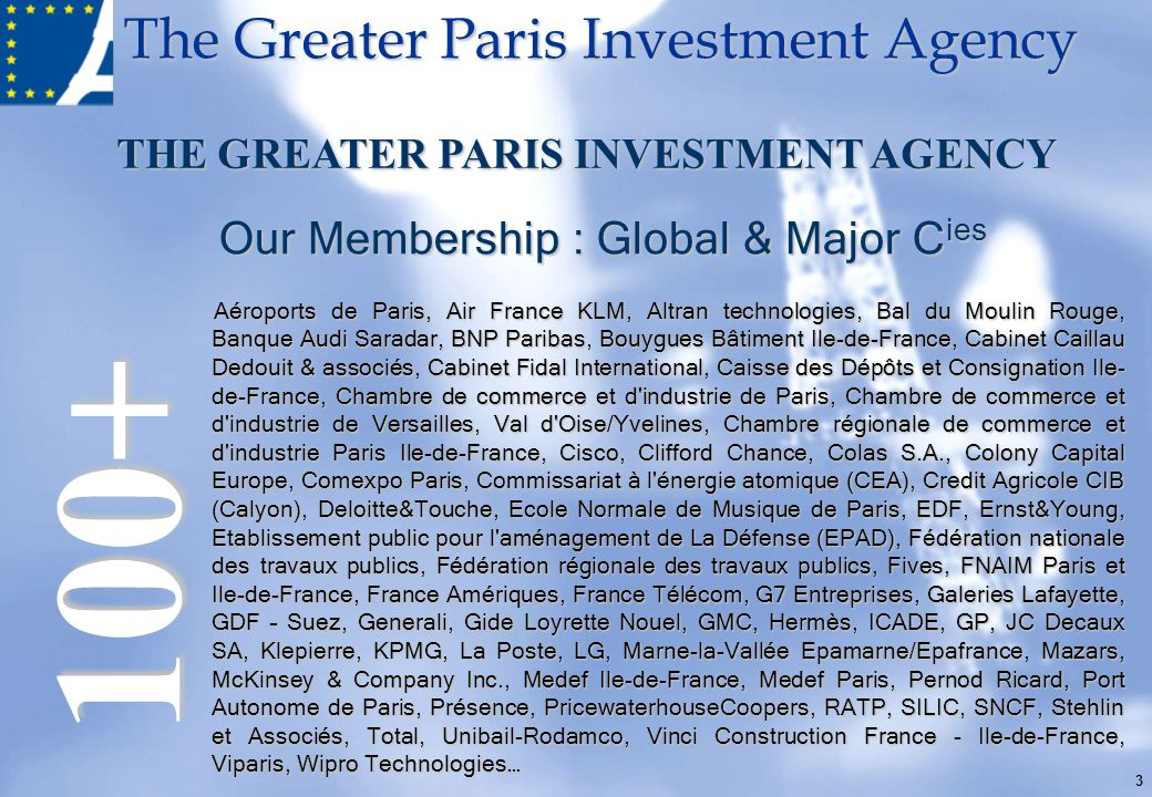 100+ Our Membership : Global & Major Cies