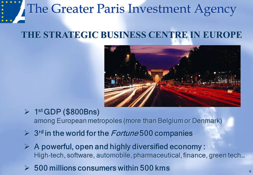 THE STRATEGIC BUSINESS CENTRE IN EUROPE