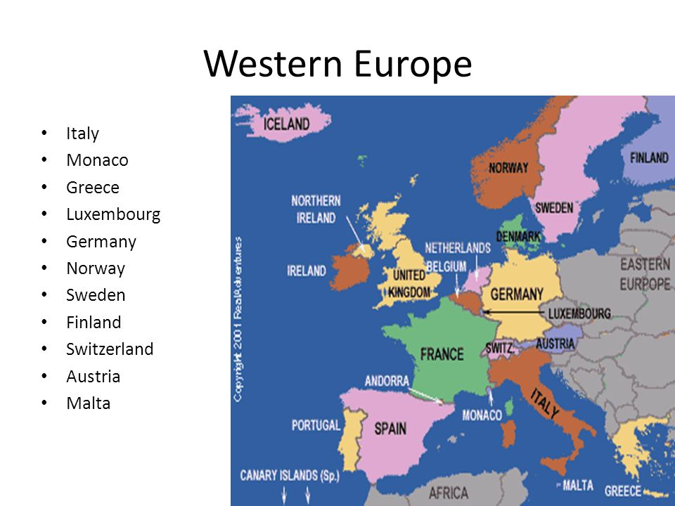 Map Region Europe Ppt Download - Western europe
