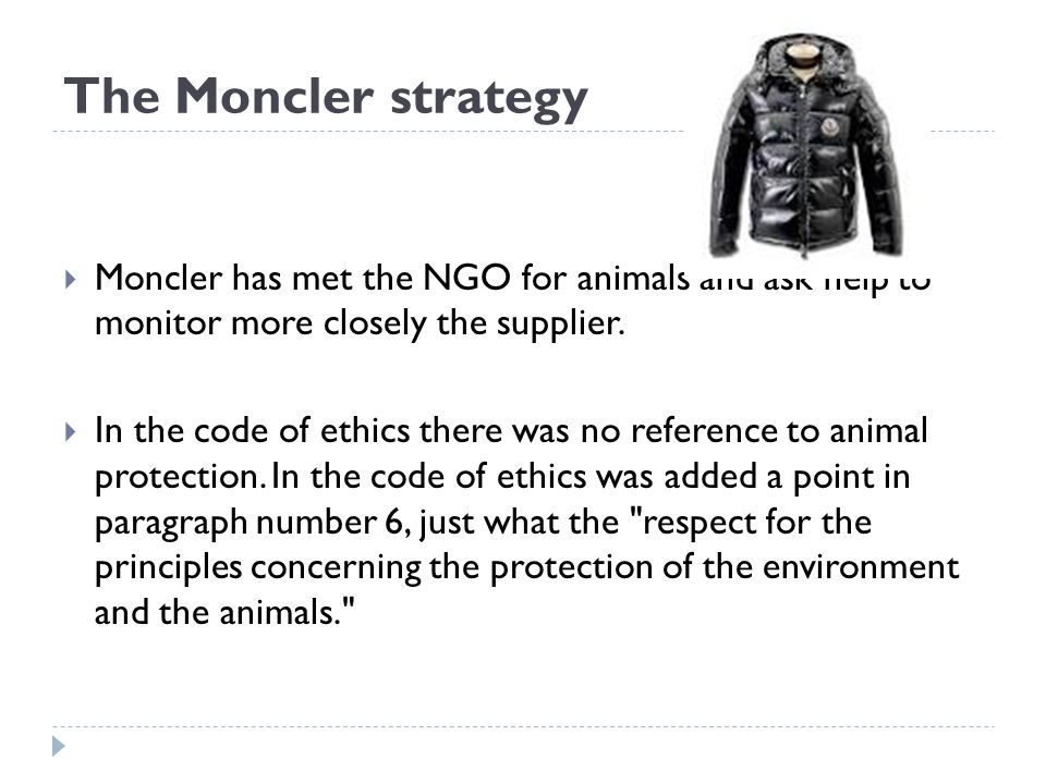 moncler code of ethics