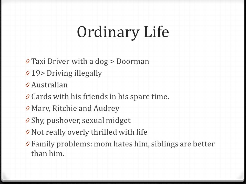 ed s hero journey copy and use for essay ppt video online  ordinary life taxi driver a dog > doorman
