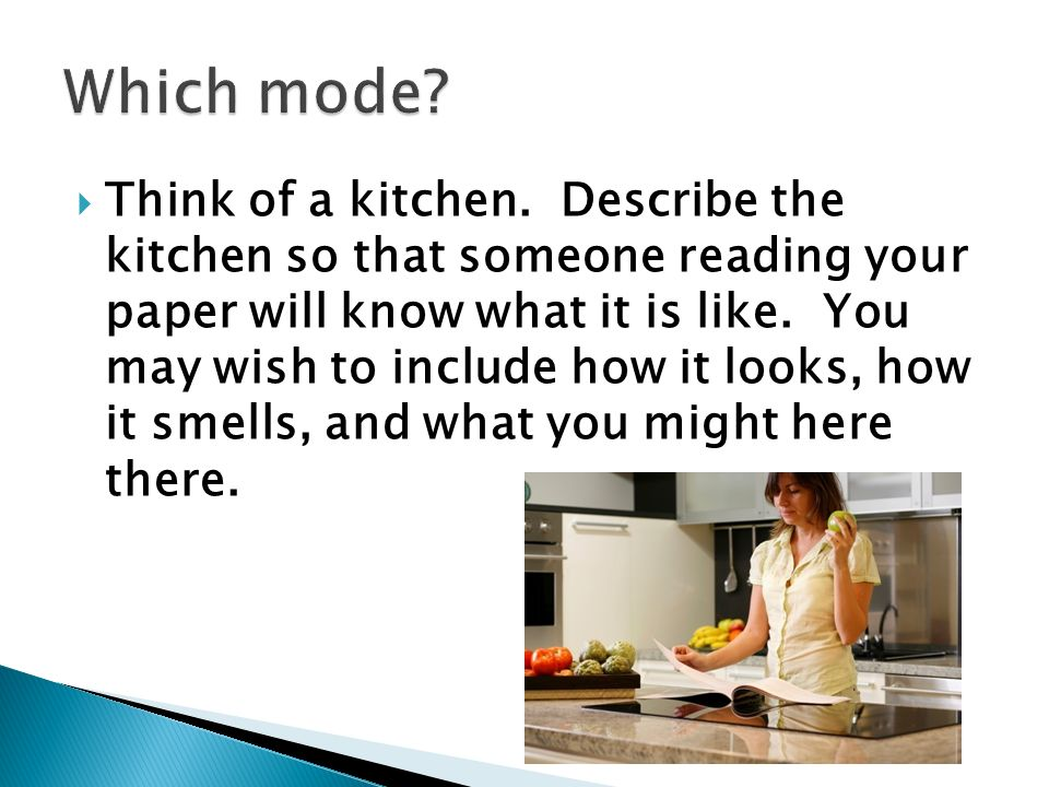 Describe your kitchen essay