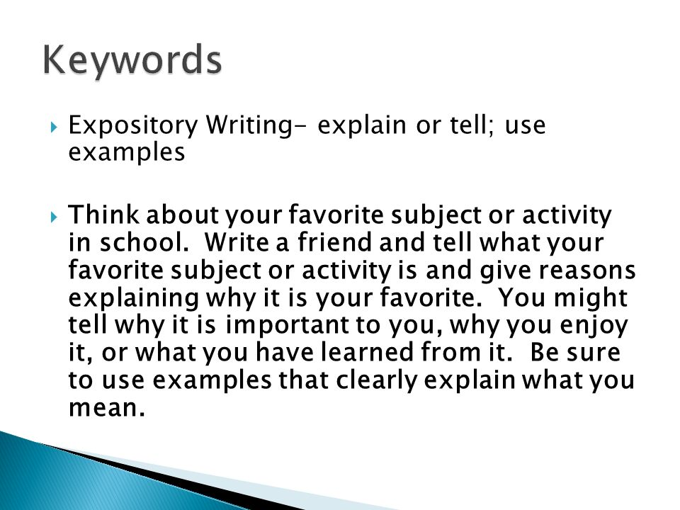explain expository essay The intention of an expository essay is to present, reasonably and absolutely, other people's opinion or views to report about an event or any experience.