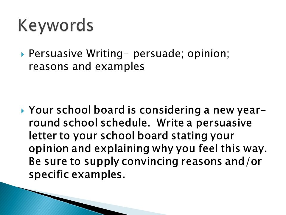Modes of writing miss gay english ppt video online download keywords persuasive writing persuade opinion reasons and examples spiritdancerdesigns Choice Image