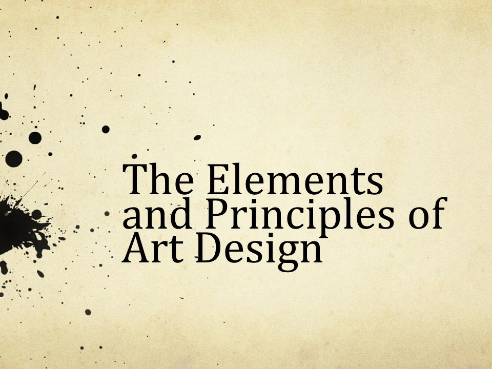 Art Design Elements And Principles : The elements and principles of art design ppt video