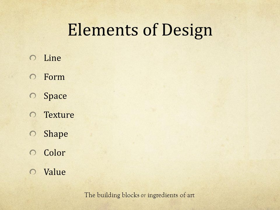 Elements Of Design Value : The elements and principles of art design ppt video