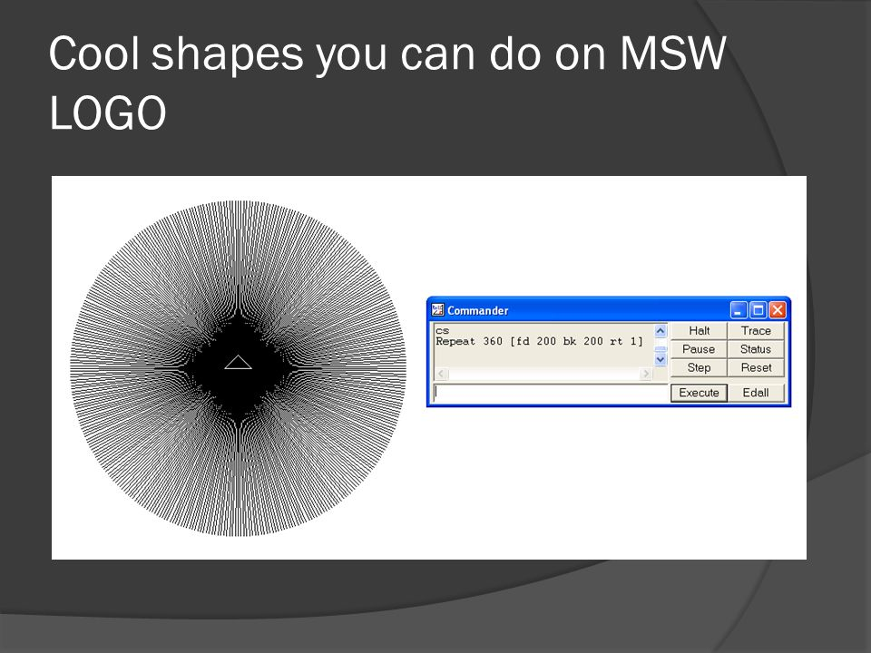 Cool shapes you can do on MSW LOGO