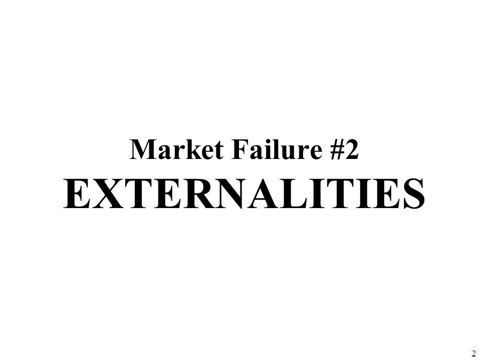 Market Failure #2 EXTERNALITIES