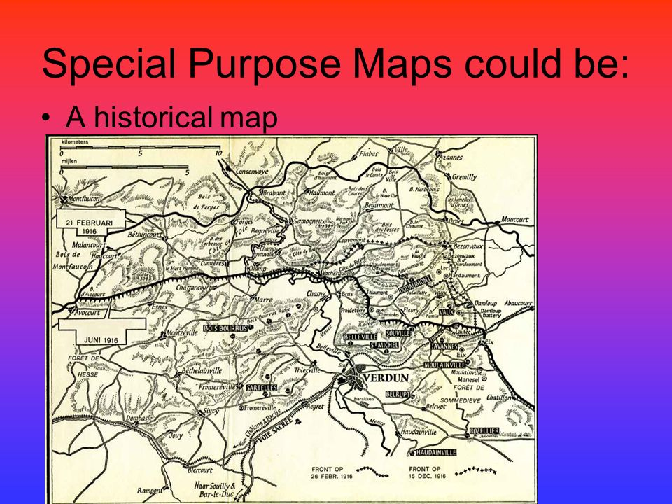 types of maps ppt