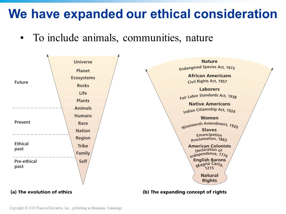 We have expanded our ethical consideration