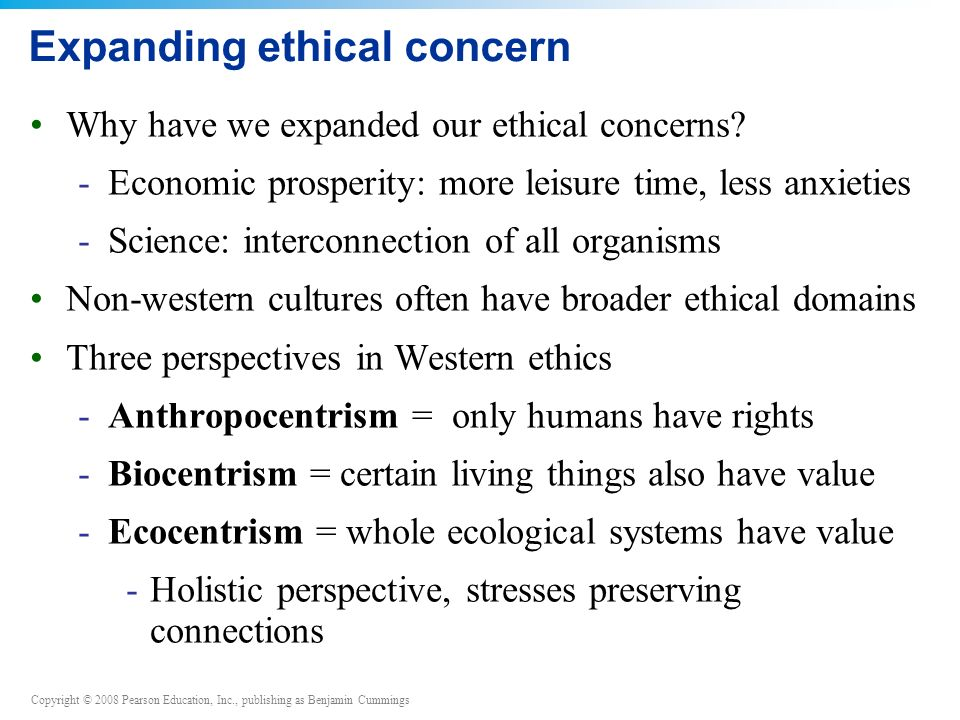 Expanding ethical concern