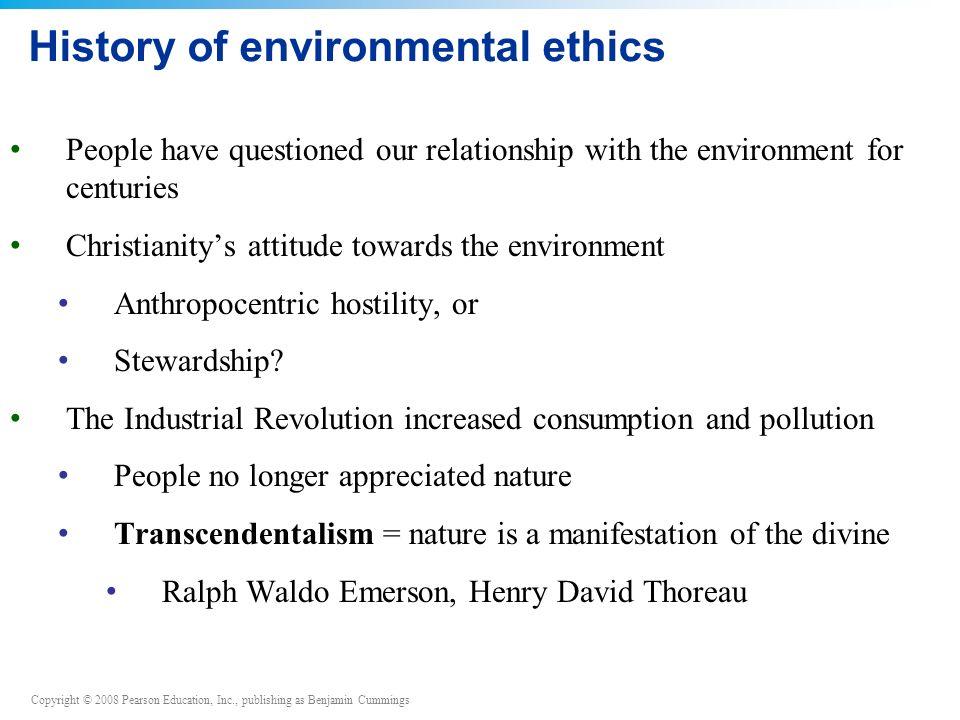 History of environmental ethics