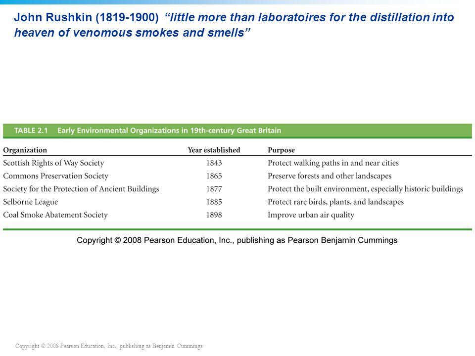 John Rushkin (1819-1900) little more than laboratoires for the distillation into heaven of venomous smokes and smells