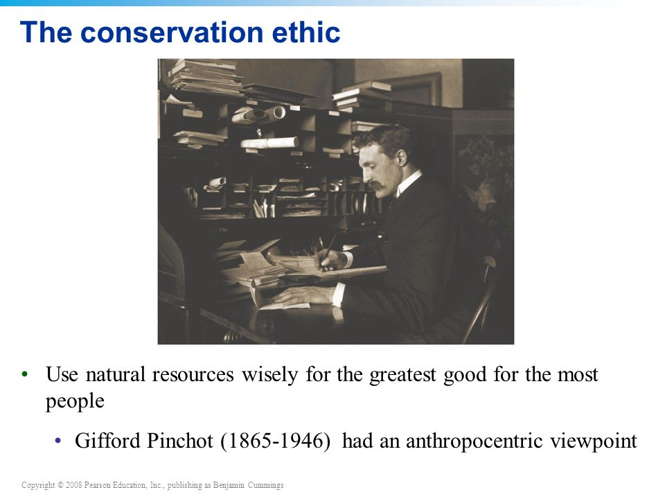 The conservation ethic