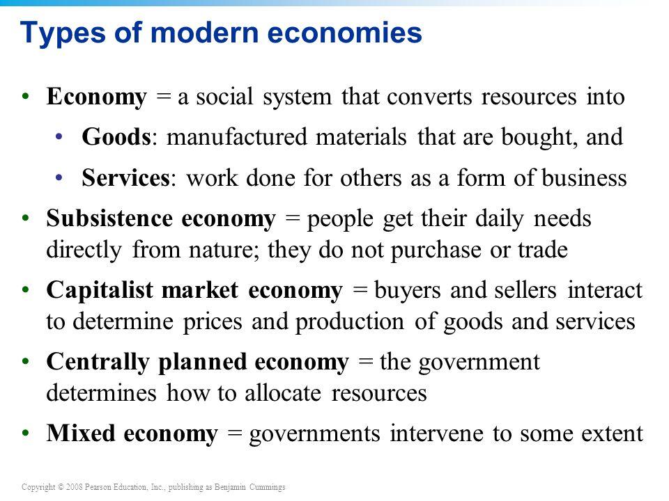 Types of modern economies