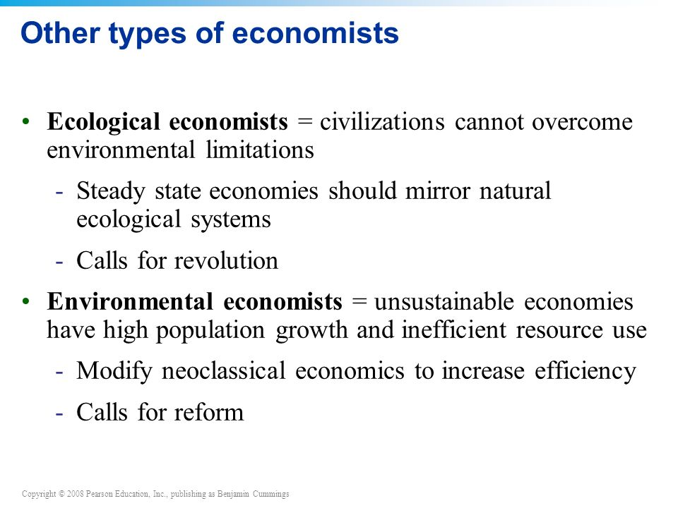 Other types of economists