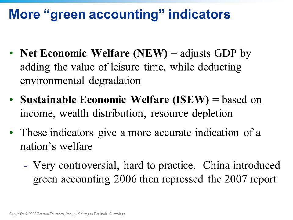 More green accounting indicators