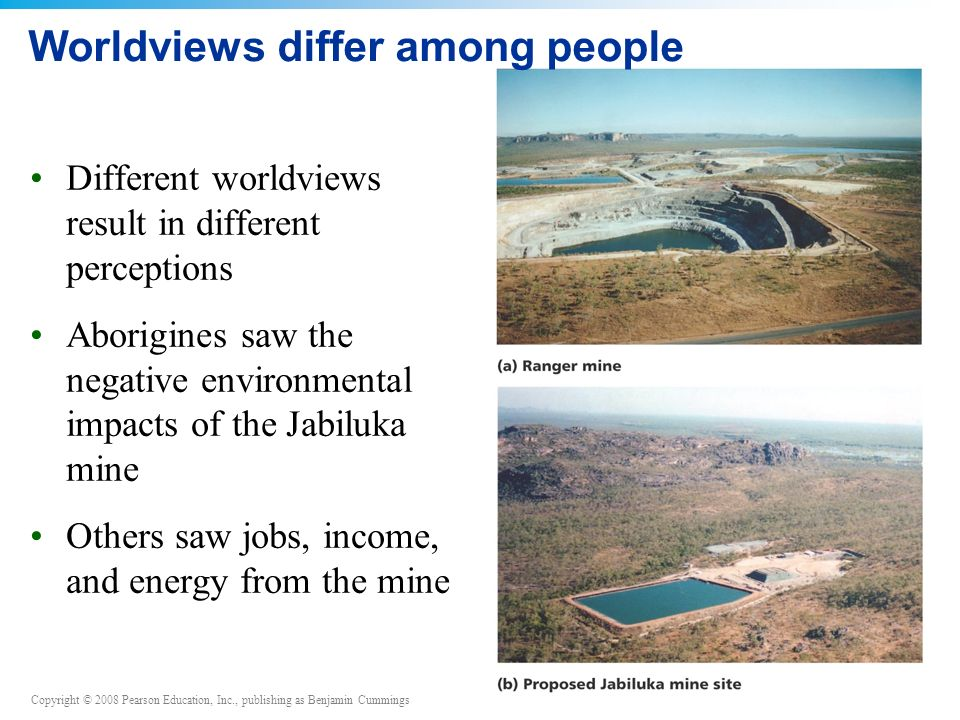 Worldviews differ among people