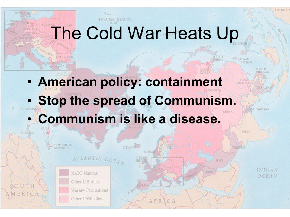 the cold war and the spread of communism in asia Concurrently, the us sponsored the creation of the eight-nation southeast asia treaty organization (seato) to protect cambodia, laos and south vietnam from the spread of communism north vietnam soon declared its intention to reunite with south vietnam -- by military means if necessary.
