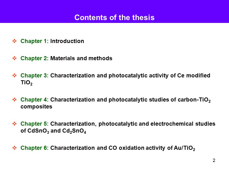 thesis chapter 3 contents The main purpose of chapter 3 of your dissertation, which is methodology, is to give enough information to an experienced investigator to be able to replicate the study.