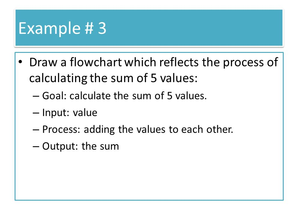 Example 1 Draw A Flowchart For Calculating The Area Of A