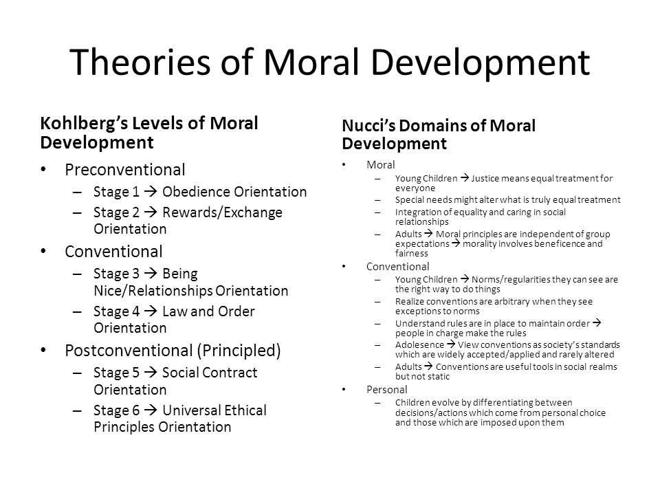 Lawrence Kohlberg's stages of moral development