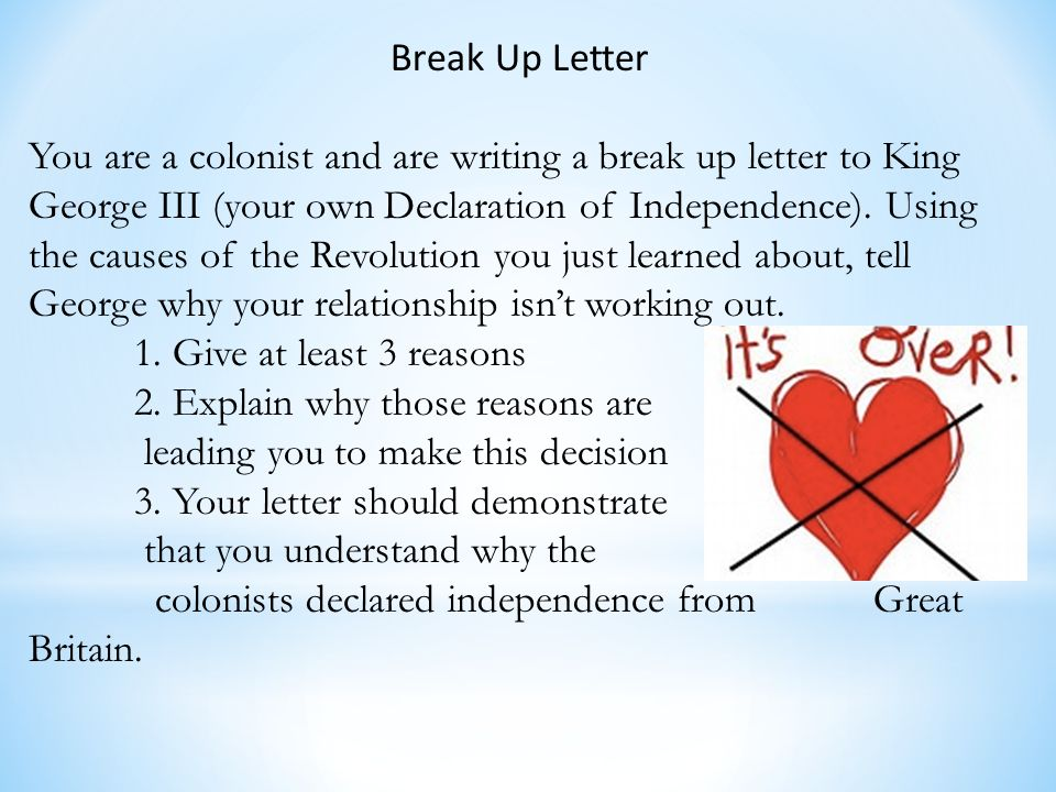 the reasons for american independence from great britain Get an answer for 'what are the key arguments that thomas jefferson makes for the colonies separation from great britain  independence from great britain.