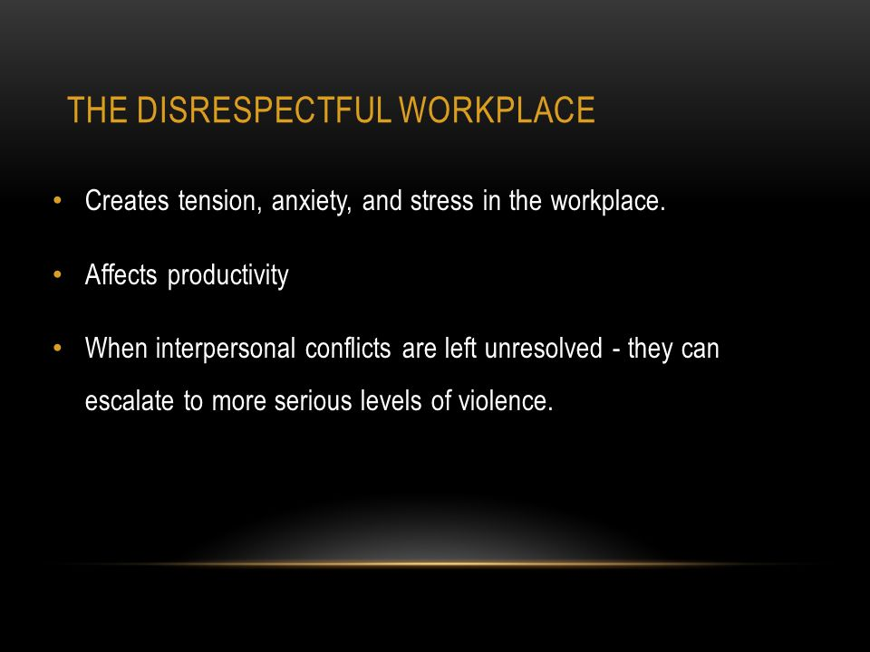 disrespect in the workplace Insolence is a specific category that falls under the general workplace issue of insubordination it means speaking in a way that is disrespectful or insulting to your manager as an employee, you are expected to show professionalism and respect to your supervisors if you fall short of that expectation, you can be.