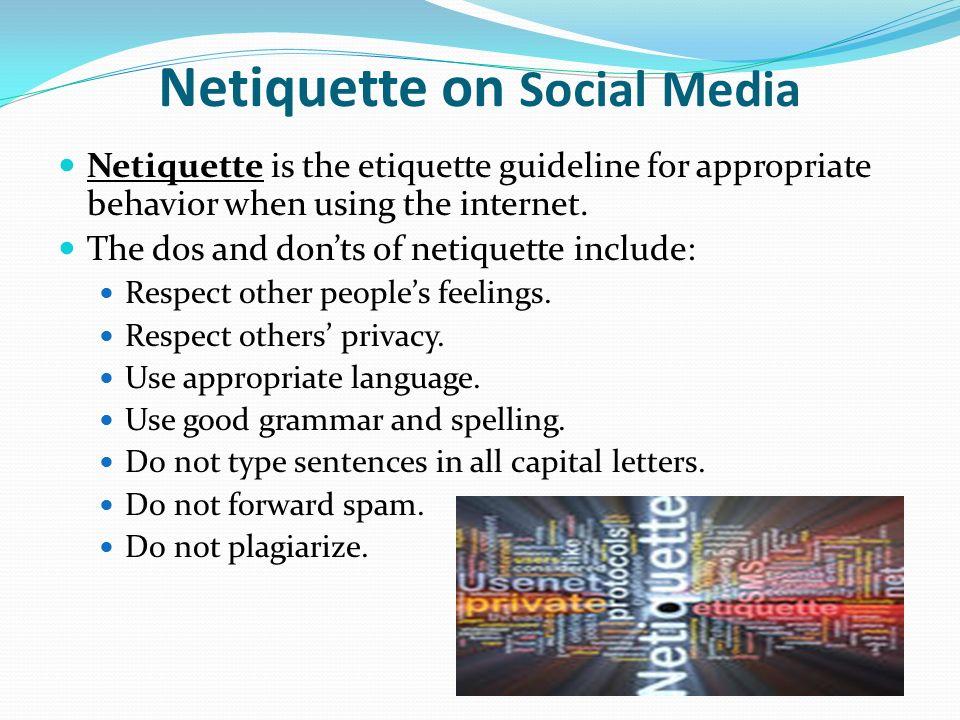 essays on netiquette Read this full essay on netiquette louise anne v principe bsp - 1 internet etiquette (netiquette 101) _____.